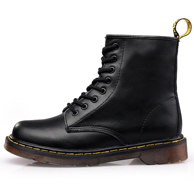 Botas Dr Cuero 1460 rojo marrón Martin Genuino Básicos Los Zapatos El De Hombres Negro TUqBwR