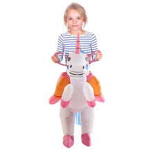 Christmas Gift kids Halloween costume for kids Inflatable Unicorn Dinosaur Costume Inflatable T rex Party Princess Dress