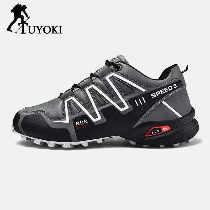 Tuyoki chaussures de randonnée pour hommes Sport hommes baskets Jogging respirant antidérapant Zapatos décontracté chaussures d'entraînement en plein air taille 39-47