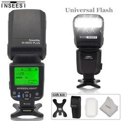 INSEESI IN-560IV PLUS Wireless Camera Flash Speedlite Lcd Fill Light Universal Flash For Canon Nikon Olympus Pentax DSLR Cameras