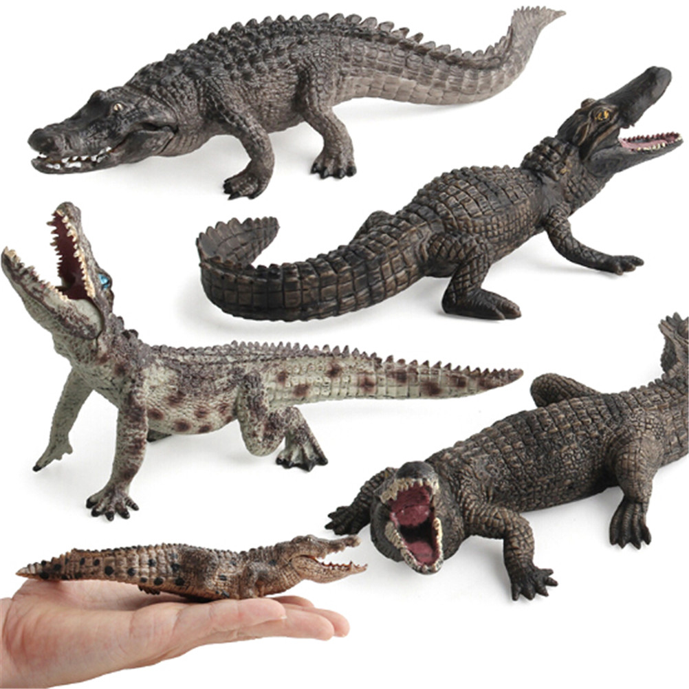 1pcs Halloween Realistic Crocodile Rubber Toy Safari Garden Props Joke Prank Gift About Novelty And Gag Playing Jokes Toys