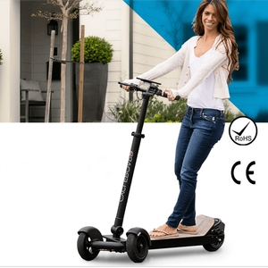 Folding Electric Scooters 3 Wheels E Board Off Road Longboard Skateboard Electric Scooters With Handle For Adults