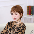1PC New Style Synthetic Short Wigs Brown Full Wig Fiber With Bang Women Hair Short Cute Bobo Wig Heat Resistant Party Wig