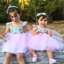 Girls Summer Floral Dress Infant  Tutu Dress