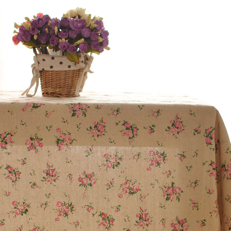 new arrival pastoral countryside tv cabinet cover cloth coffee rustic table linen table cloth cover cloth