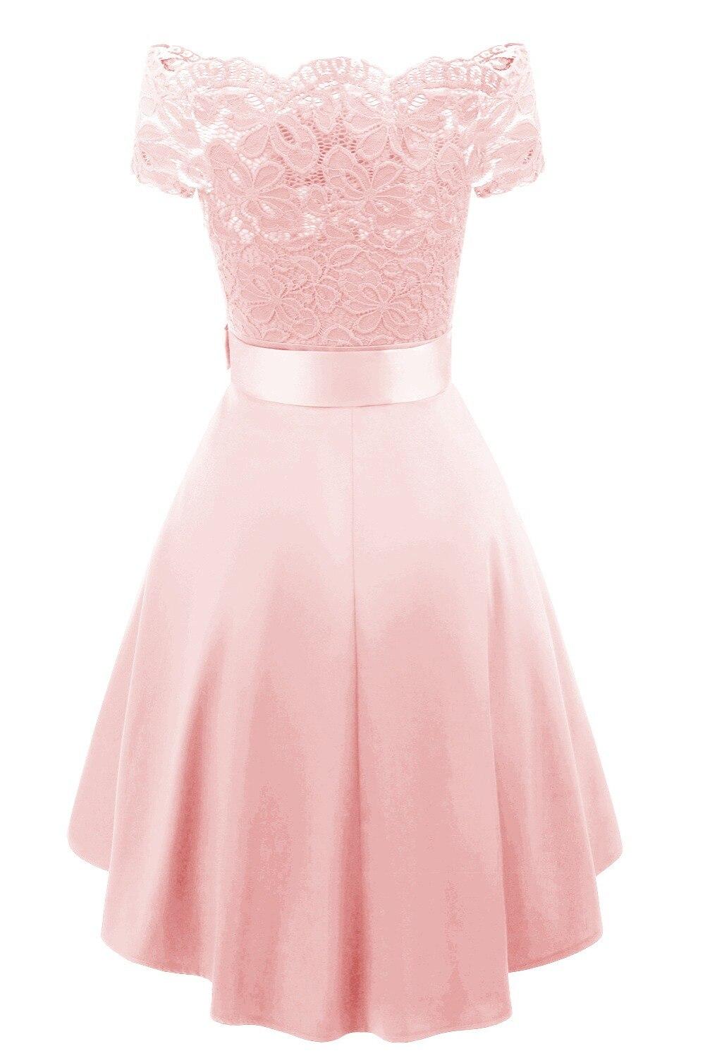 Cocktail Dresses Simple A-Line lace Elegant Summer Women 2019 Short Vestidos Off the Shoulder Sexy Women Cocktail Dresses