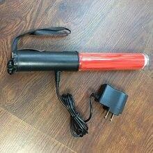 26CM Long Charging Style Outdoor Flashing Safety Mulit  functional LED Traffic flashlight baton magnet at the bottom