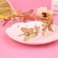 Women Hair Jewelry Accessory Wedding Bridal Crystal Pearl Butterfly Hairwear Hair Tiara headband wedding headpieces
