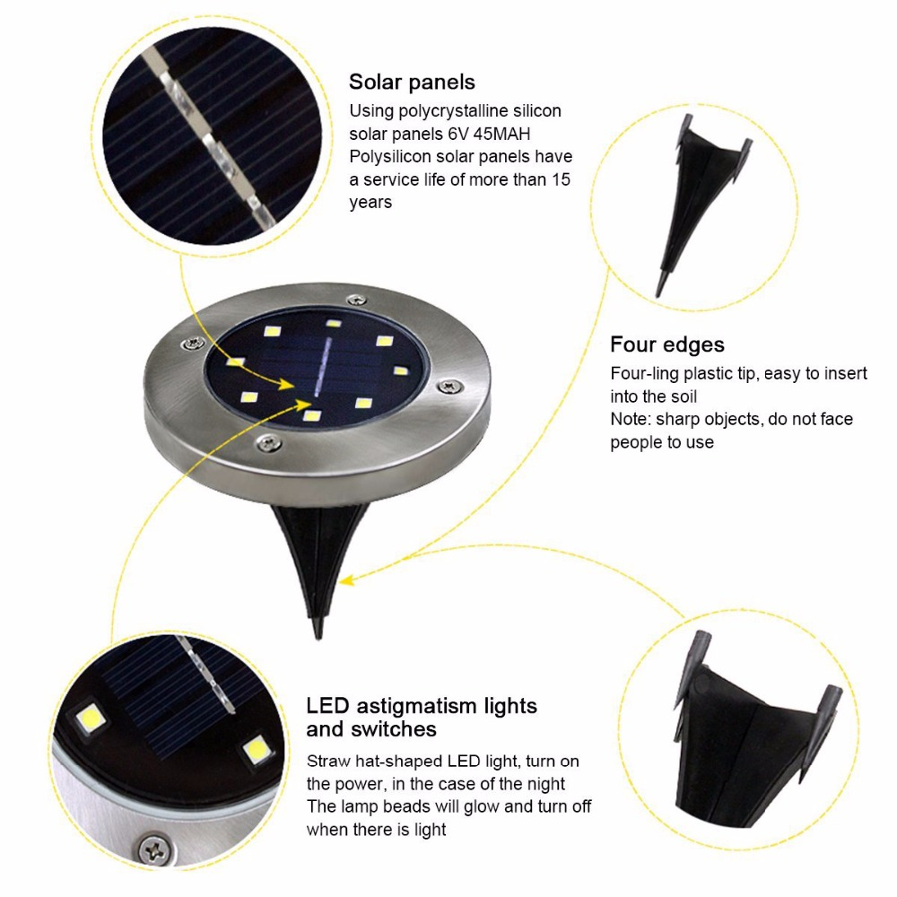 Lâmpadas Solares plataforma À prova d' Água Solar Light : Led Solar Outdoor Light