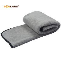 Sinland плюшевые микрофибры Полотенца автомобиль воском полировка Wash очистки Полотенца 60x90 см серый 20 шт.