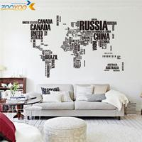 Creative Letter Map Of World For Home Decor Wall Decal ZooYoo95AB Decorative Adesivo De Parede Removable