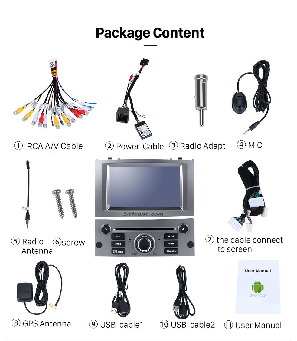 seicane 7 android 8 0 car dvd player for 2004 2010 peugeot 407 rh aliexpress com Audi R8 Manual Peugeot 407 SW