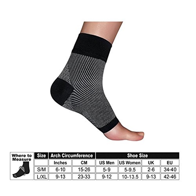david angie Unisex Men Women Toeless Plantar Fasciitis Compression   Socks   Hell Arch Pain Relief Ankle Foot Support Sleeve,1Y56180