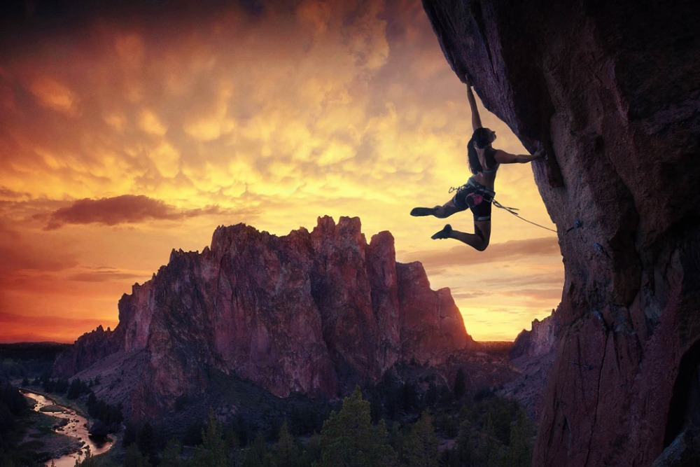 Rock, Sport, Decor, Climbing, Outdoor, Fabric