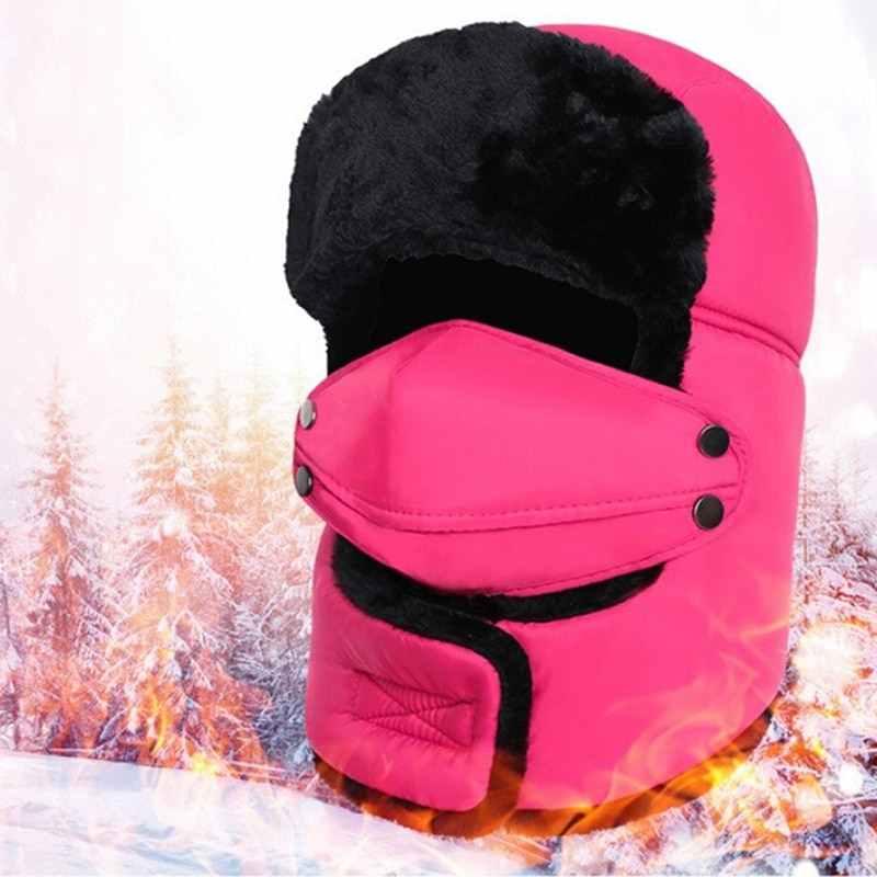 Jcaaap Inverno Caldo Paraorecchie Cappelli Invernali E con Pelliccia Caps Sciarpa Russo Trooper Paraorecchie Neve Sci Della Protezione Del Cappello con Fack Maschera Trapper Cappello Termico