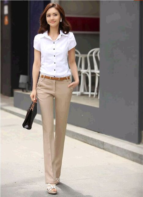 884dee2985 Female western-style trousers ol bell bottom women s trousers plus size  formal suit pants female professional pants