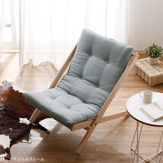 Solid Wood Folding Leisure Chair with Thick Cushion Portable Comfortable  Chair Outdoor Home Bedroom Leisure Chair Furniture