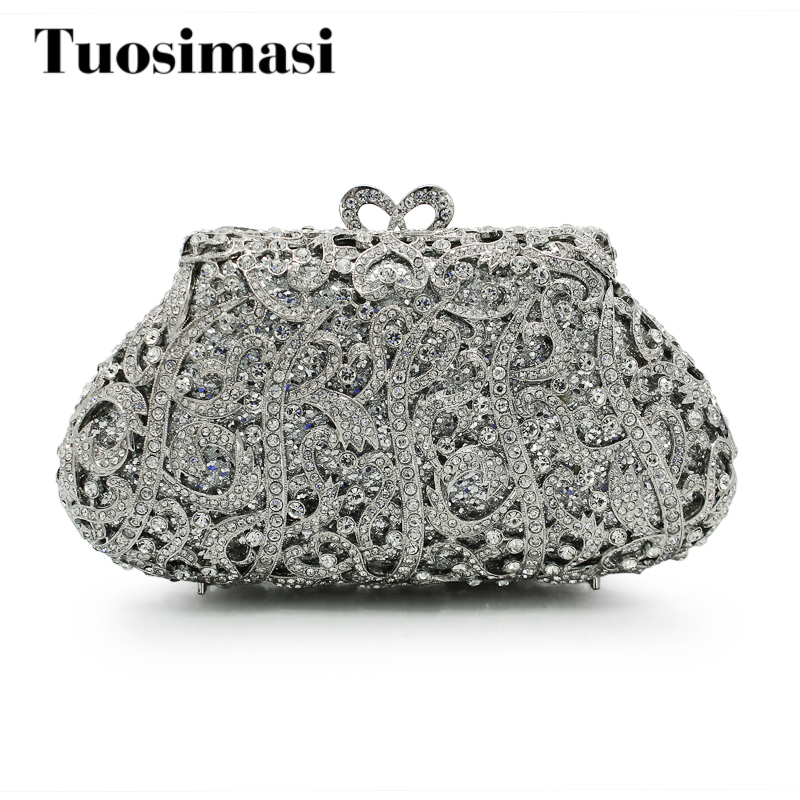 2017 New Women Clutch Bags Ladies Sliver Evening Bag Female Crystal Party Purses Wedding Sliver Day Clutches Bag(88200A-S) women evening bags red ladies party wallets clutch bag green female gold crystal wedding bridal purses silver day clutches lady