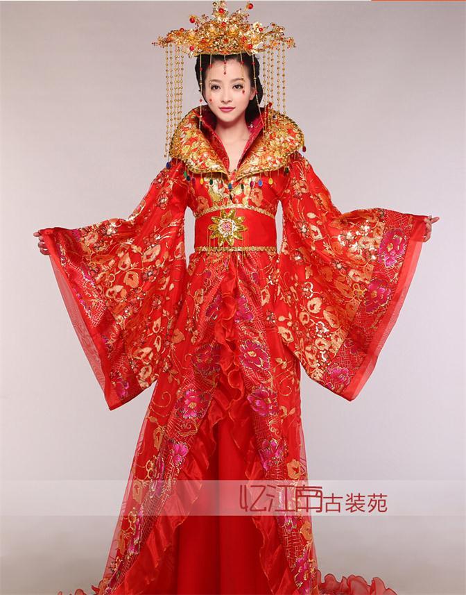 Горячая распродажа Новые Китайские Древние Традиционные Infanta Королевский драматургический костюм халат платье 2015101 - Цвет: Красный