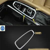 Lapetus estilo de coche puestos de transmisión de cambio de palanca cubierta de marco Interior Trim ABS para Volvo XC90 2016, 2017, 2018, 2019
