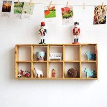 Zakka продукты ящик для хранения десять сетки настенный дисплей стены витрина декоративно-прикладного искусства, если они имели двойной