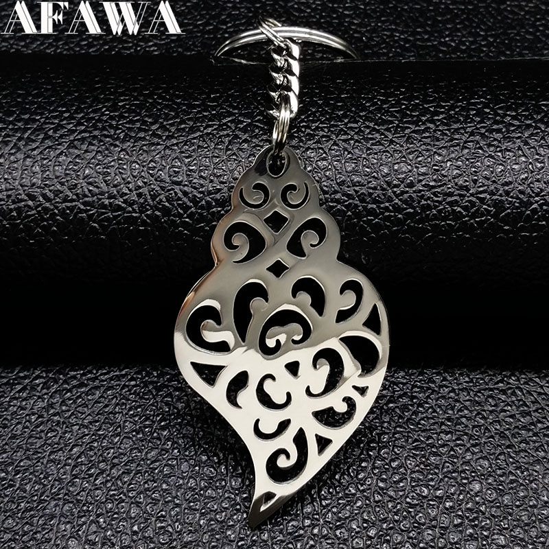 2018 New Fashion Big Stainless Steel Keychains for Women Heart Silver Color Bag Charm Jewelry Gift llavero K77304B