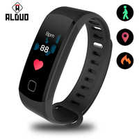 """ALANGDUO USB Smart Bracelet 0.96"""" Color Screen Continuous Heart Rate Monitor for iOS Android App Waterproof Smart Wristband 2019"""