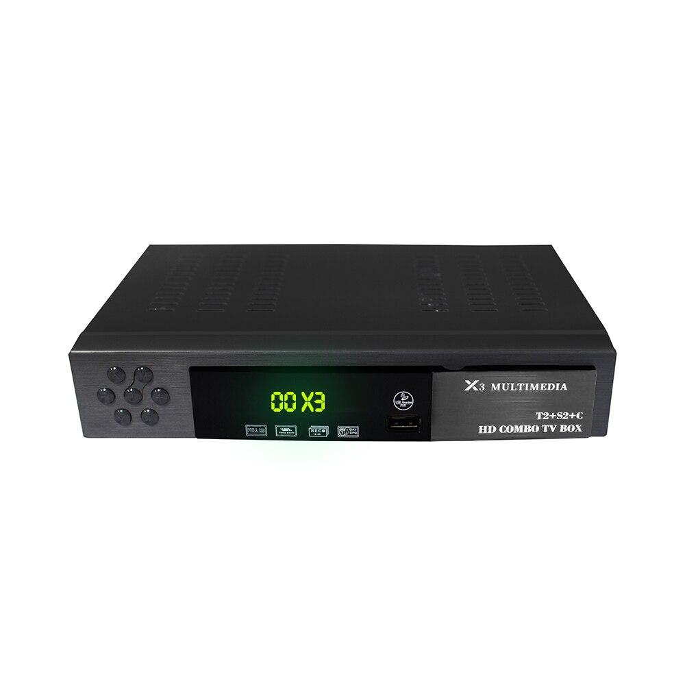 Vmade HD numérique DVB T2 S2 DVB-C prise en charge de la boîte de télévision Dolby AC3 H.264 HD 1080 p DVB T2 S2 TV Tuner + USB WIFI + 1 an Europe CCCAM serveur - 3