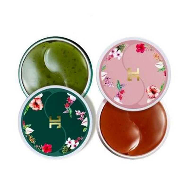 Korea Cosmetics Green Tea Eye Mask 60pcs + Roselle Gel Eye Patch Mask 60pcs Eye Care Moisture Skin Whitening Face Care Mask