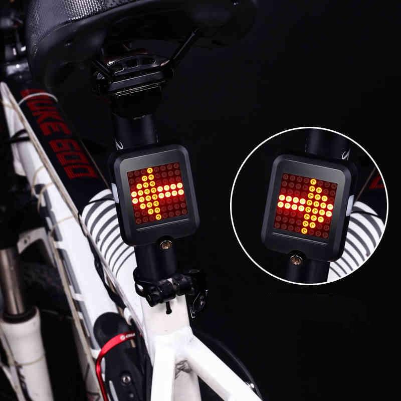 64 LED Impermeable Inteligente de Inducción Automática de Dirección de Freno MTB