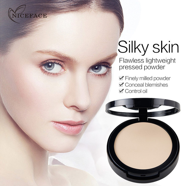 New NICEFACE Makeup Pores Cover Hide Blemish Face Pressed Powder Oil-control Lasting Base Concealer Powder Cosmetics 4