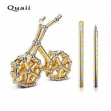 Quaii قلم مغناطيسي الإبداعية القطبية مكثف المغناطيس القلم مضحك لعبة تململ سبينر ضد الإجهاد تململ قلم حبر جاف Plumas