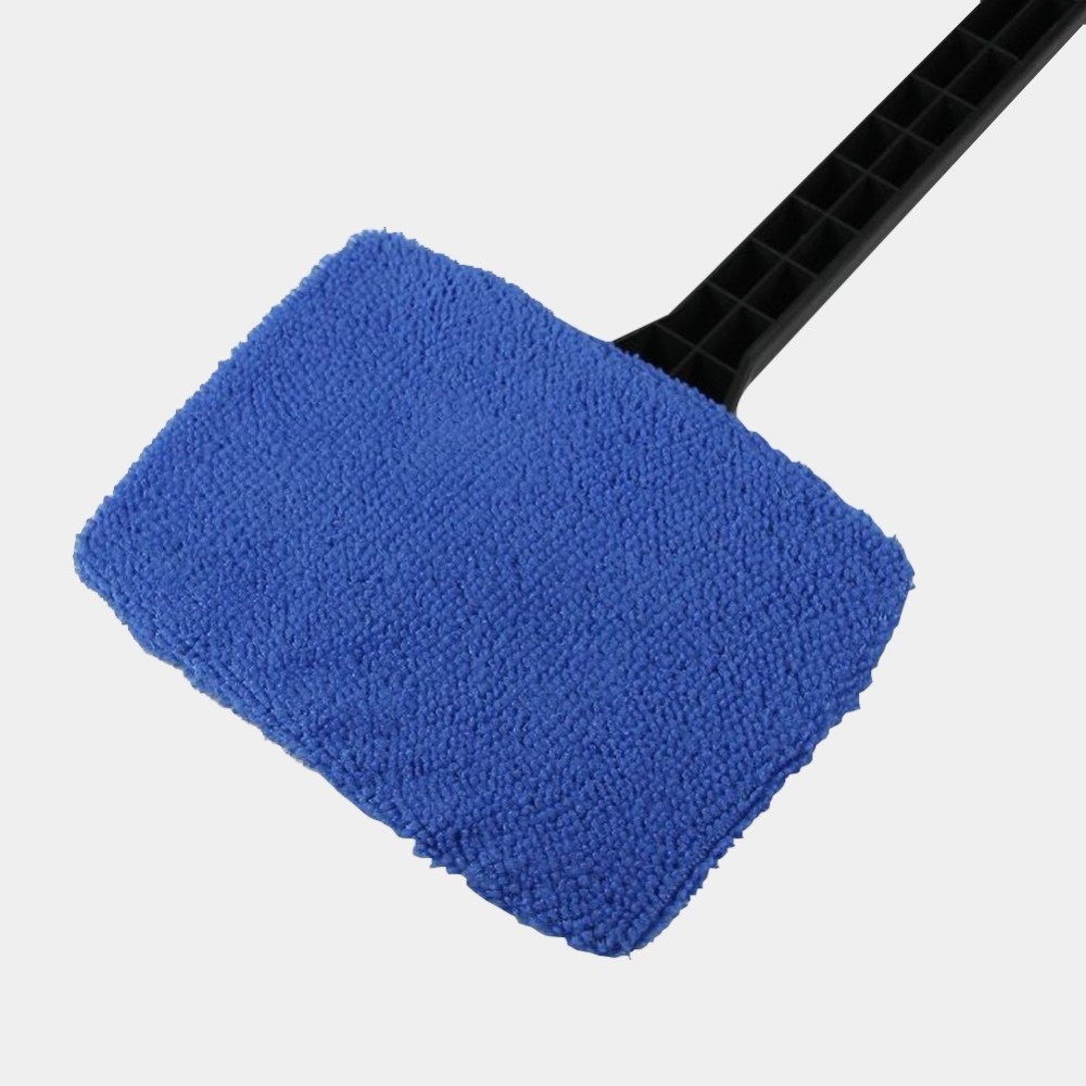 New Microfiber Auto Window Cleaner Long Handle Car Washer Brush Car Windshield Glass Wiper Cloth Clean Tools Washable
