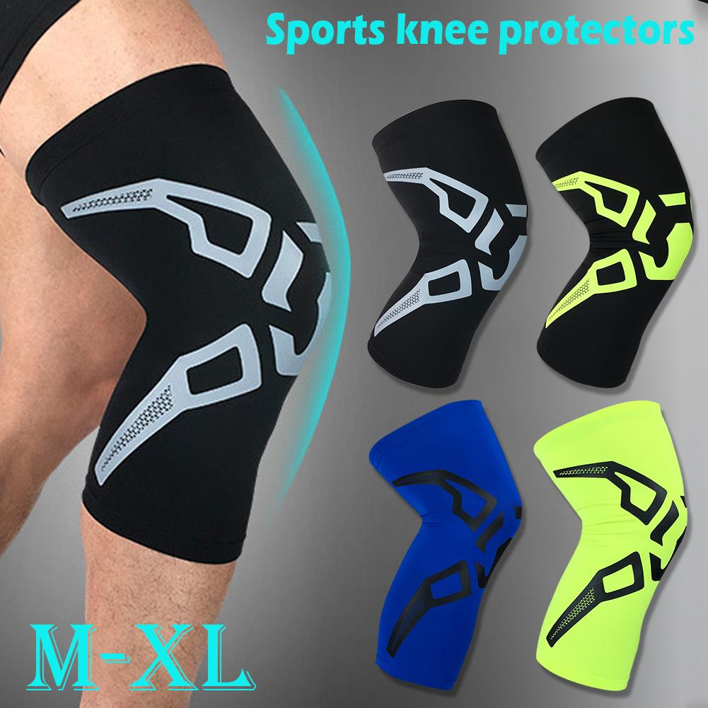 1pc Fitness Knee Brace Compression Support Sleeve Basketball Cycling Running Sports Patella Protector
