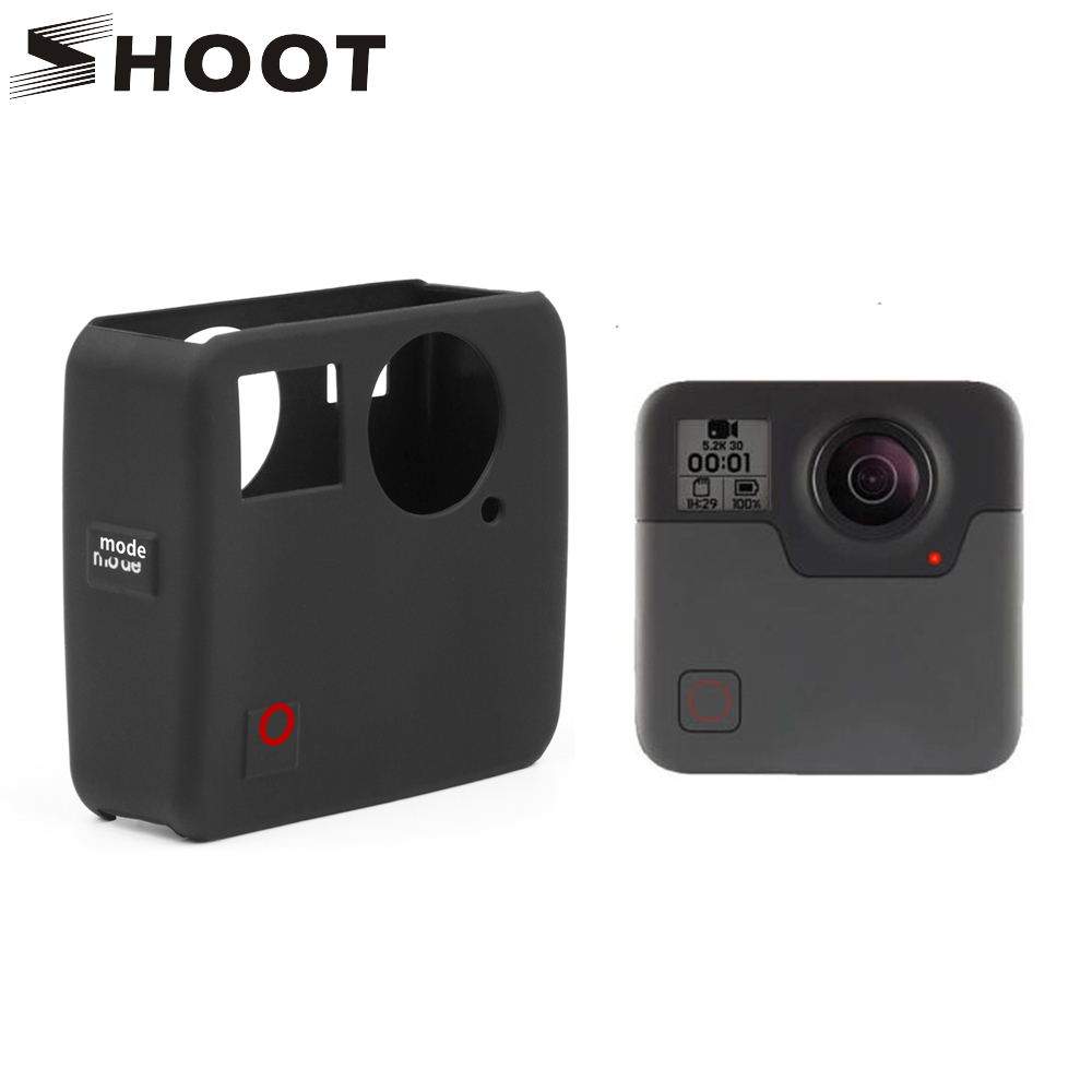 SHOOT Soft Silicone Protective Cover Case For GoPro Fusion Action Camera Housing Cover Case For Go Pro Fusion Camera Accessory