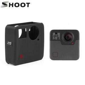 Image 1 - Atirar caso capa protetora de silicone macio para gopro fusão ação câmera habitação capa para go pro fusão câmera acessório