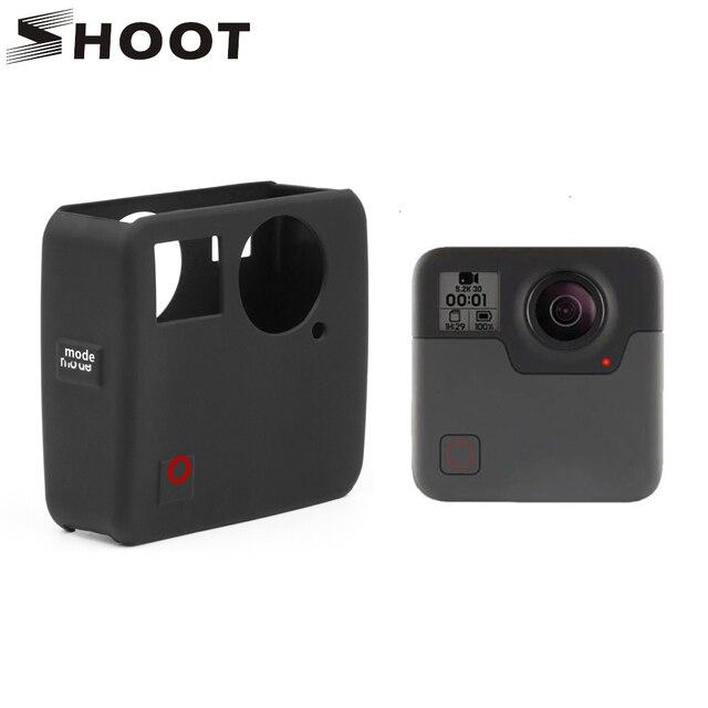 Atirar caso capa protetora de silicone macio para gopro fusão ação câmera habitação capa para go pro fusão câmera acessório