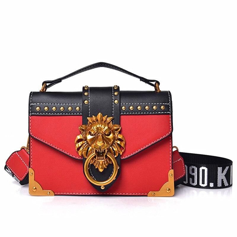 Versión coreana hermosa clásico de paneles Color Mujer dulce juventud niñas hombro bolsos Messenger bolsos de embrague carteras