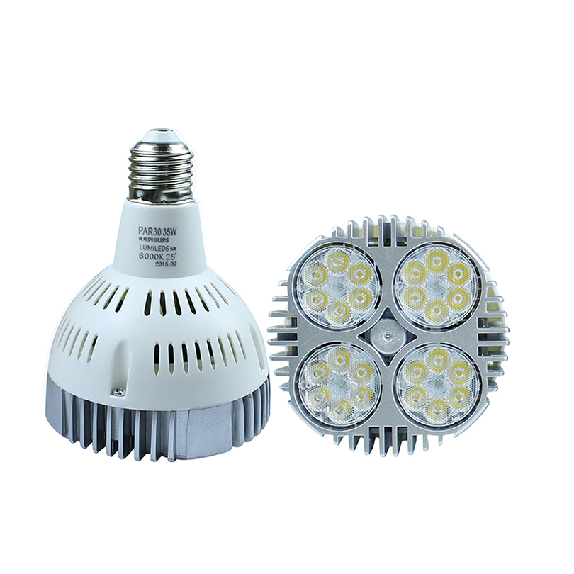 1Pcs Super Bright E27 35W led par30 spotlight Lamp bulb AC85-265V Led Lighting White/Warm white For Home lighting dhl free shipping 20pc led spotlight 35w e27 par30 warm pure white led track light clothing store shopping mall hotel wall lamps