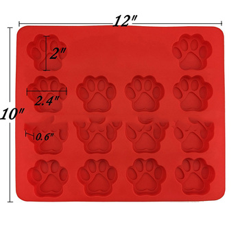 1Pcs Kitchen Cookie Mould Dog Treats Silicone Cake Pan Mold Bone-Shaped and Paw Prints Candy Fondant Biscuits Tools 1