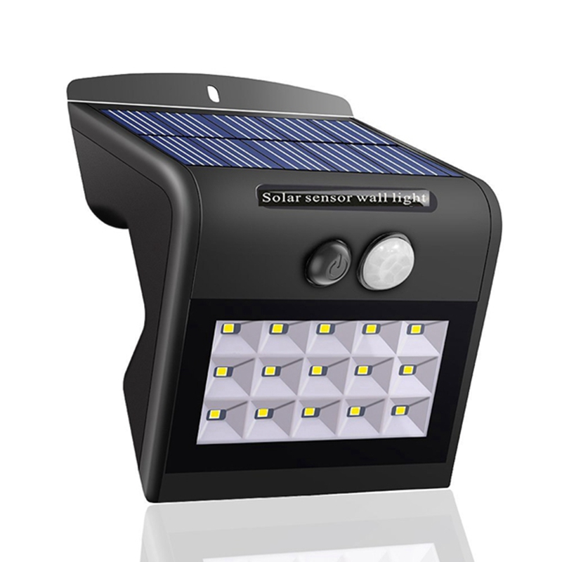 4 Modes 15 LED Solar Light PIR Motion Sensor Light Contorl 2835 SMD Solar Powered Outdoor LED Garden Light Waterproof Wall Lamp