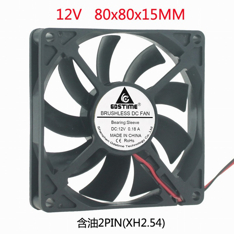 DC DC 12V 8cm 8cm cm <font><b>80x80x15</b></font> notebook cooling base power supply <font><b>fan</b></font> image