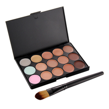 Professional Make UP Set 15 Colors Concealer Palette 1pc Makeup Foundation Concealer Brush Cosmetic Set FE#8
