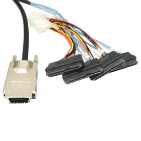 30pcs / lots External Cable Infiniband SAS SFF-8470 to 4*SFF-8482 29Pin 1m Hard Disk drives , Free shipping By Fedex кабель для сервера dell sas connector external cable 2м 470 11676r 470 11676r