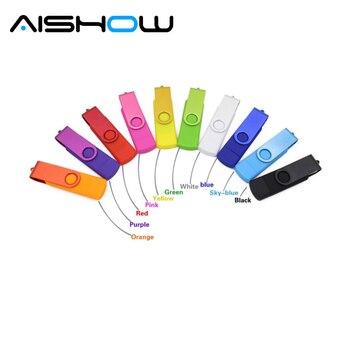 Full Color smart phone otg 4gb 8gb 32gb 64gb memory stick u disk pen drive pendrive usb flash drive with h2testw free shipping
