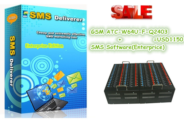NEW bulk sms server software Q2403 64 ports wavecom modem pool support Recharge USSD STK