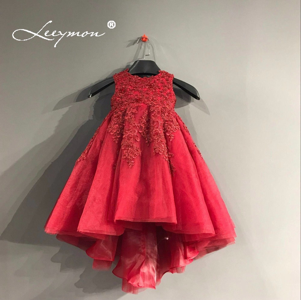 Leeymon Custom Made   Flower     Girl     Dress   Cute Ball Gown Kids Evening   Dress   Beading 2018 Children Mother and Daughter   Dress