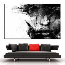 Large size Printing Oil Painting Head Wall painting Decor Wall Art Picture For Living Room painting No Frame(China)