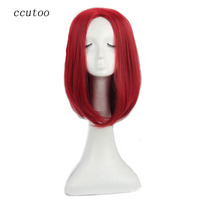 ccutoo X Men mystique 16 Dark Red Straight Synthetic Hair Cosplay Full Wigs