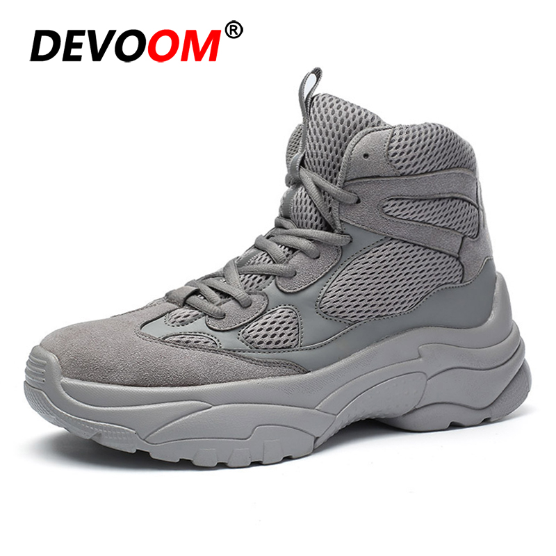 2018 Men Delta Military Tactical Boots Outdoor Hiking Shoes Travel Shoes Commando Winter Outdoor Leather Warm